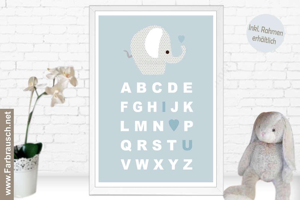 poster fur kinderzimmer, abc poster kinder, Design ideen