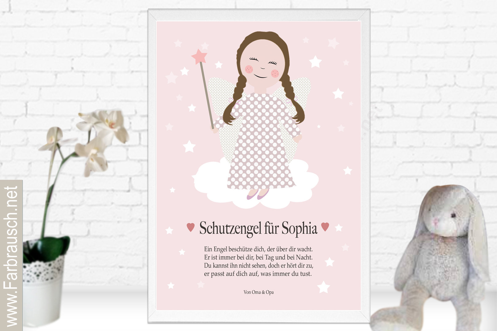 Persönliches Schutzengel Bild Für Kinder Geschenk Taufe Oder Geburt